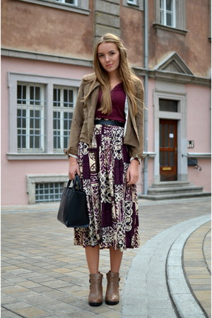 gipsy vintage skirt - boots schuhtempel shoes - brown Orsay jacket