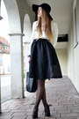 White-pimkie-sweater-black-hallhuber-bag-black-tk-maxx-skirt