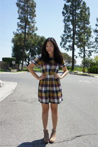 plaid songbird madewell dress - jamison Dolce Vita boots