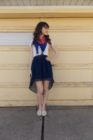 blue modcloth scarf - navy Target skirt