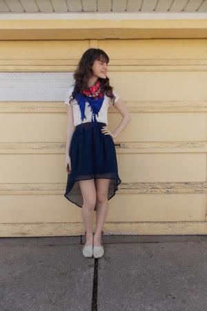 blue modcloth scarf - navy Target skirt