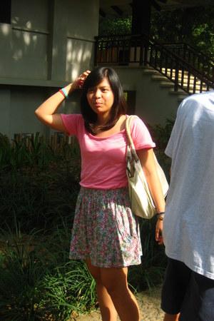 Celine bag - Zara skirt - Zara blouse