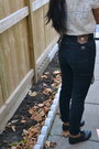 Black-parasuco-jeans-white-zara-jacket-crimson-mothers-vintage-scarf