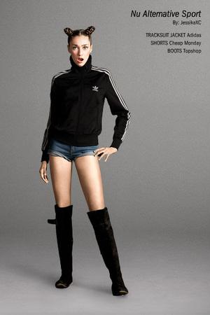 jacket - shorts - boots