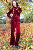 ruby red velvet jumpsuit Vintage from Pink Pidgeon romper
