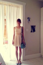 ivory lace free people dress - bubble gum kitty flats Urban Outfitters shoes