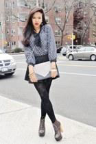 blue Ebay blouse - dark brown Shoe Republica boots
