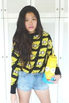 Bart Simpson sweater - Faded Shorts jeans