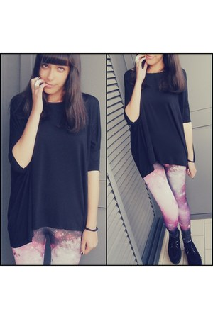 romwe leggings - Bershka shirt