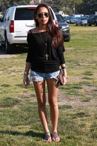 Louis Vuitton bag - vintage Levis shorts - Jeffrey Campbell sandals - Forever 21