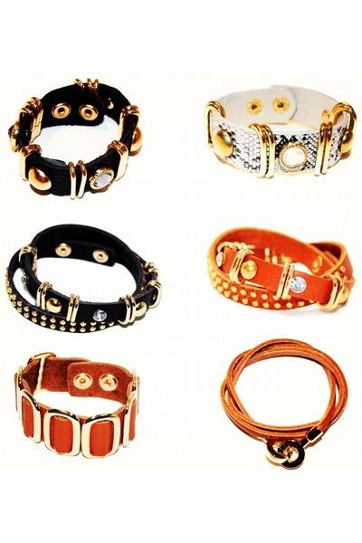 black unbranded bracelet - black unbranded bracelet - tawny unbranded bracelet