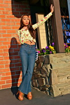 melie bianco bag - BCBG heels - Walmart blouse - H&M accessories