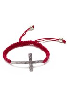 Red-silver-cross-unbranded-bracelet