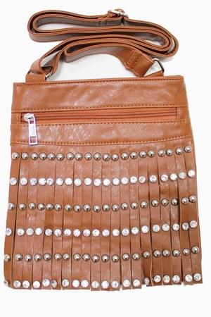 bronze fringe unbranded bag