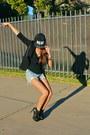 Black-charles-keith-boots-black-unbranded-hat-black-unbranded-hat