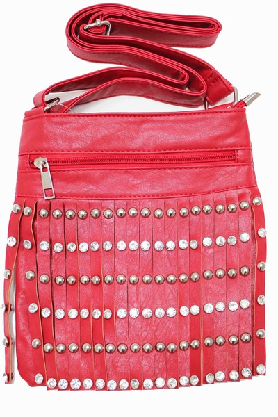 ruby red unbranded bag