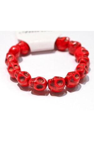 red unbranded bracelet