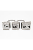 Silver-escctrlshift-unbranded-ring