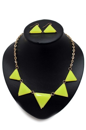 light yellow unbranded necklace