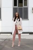 light pink Topshop pants - light pink Jeffrey Campbell heels