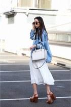 Schutz shoes - asos shirt - Reiss skirt