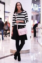 light pink Topshop bag - black Zara skirt