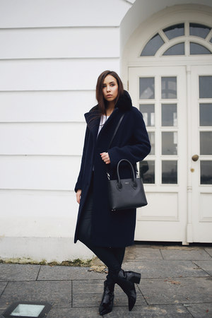 navy acne coat