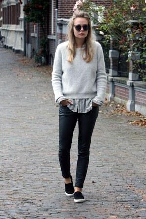 heather gray jumper