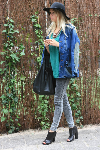 blue Zara jacket