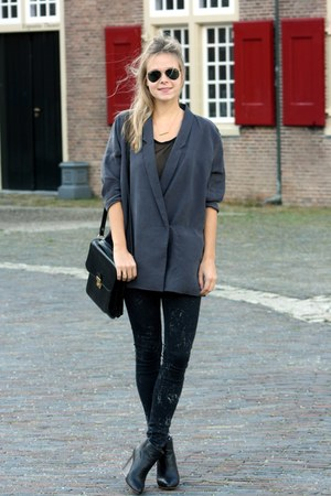 dark gray blazer
