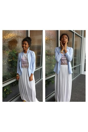 white cotton Urban Outfitters skirt - linen Khols shirt