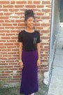Forever-21-shirt-purple-maxi-family-dollar-skirt