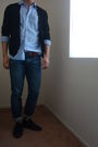 Blue-vintage-levis-shirt-blue-express-jeans-brown-vintage-gap-belt