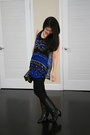 Black-hudson-jeans-black-banana-republic-bag-blue-forever21-top