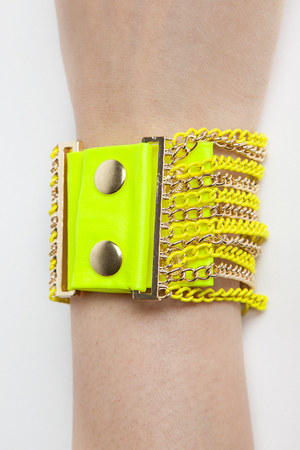 neon chain bracelet