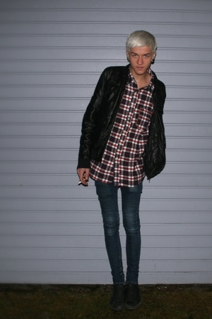 jacket - Cheap Monday jeans - poco loco shirt - nike shoes