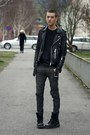 Black-dr-martens-boots-gray-cheap-monday-jeans-black-vintage-jacket-dark-g