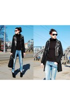 Zara boots - Zara coat - Tally Weijl jeans - Zara bag