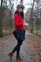 Zara boots - Zara sweater - Parfois bag