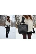 Zara boots - Zara bag - Zara jumper