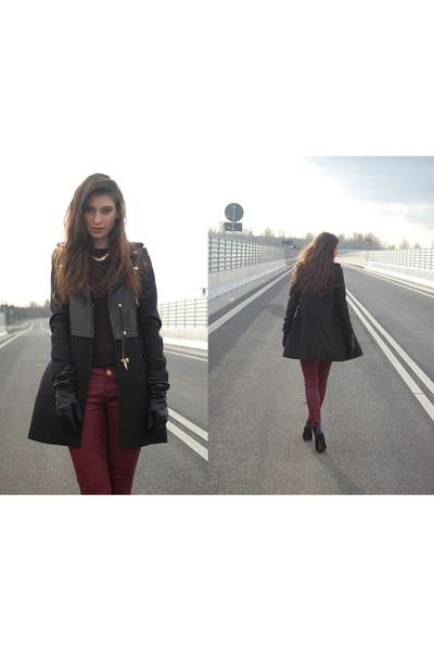 Zara coat - Zara boots - Zara pants