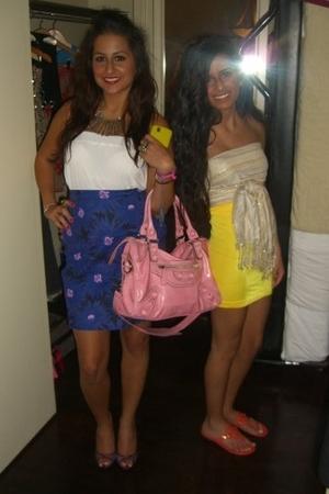 balenciaga purse - self-made skirt - top - Charlotte Russe shoes
