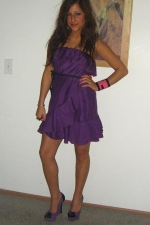 asos dress - Fendi accessories - Bebe shoes