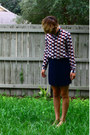Ivory-forever-21-shirt-navy-pleated-forever-21-skirt