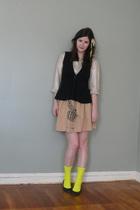 Jcrew shirt - Lux vest - Corey Lynn Calter skirt - We Love Color socks - loeffle