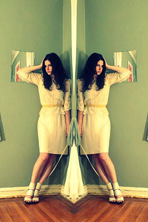 white no tag- vintage shirt - white Chloe shoes - white no tag- vintage skirt