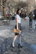 white Thakoon for Target shirt - blue Diane Von Furstenberg skirt - blue Miu Miu