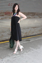 black Elizabeth and James dress - white loeffler randall shoes - green balenciag