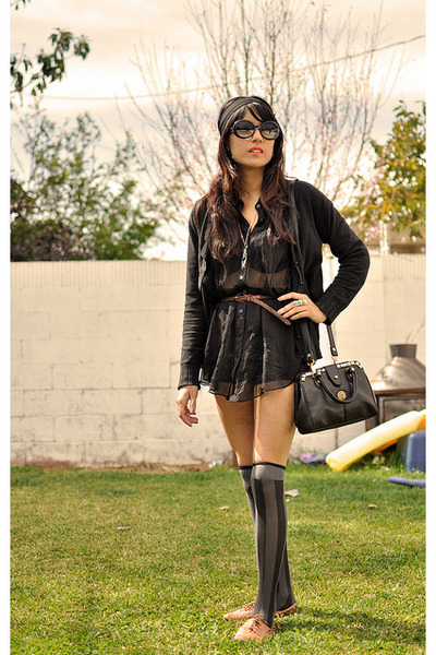 black Chanel sunglasses - dark brown cut out oxfords Kimchi Blue shoes