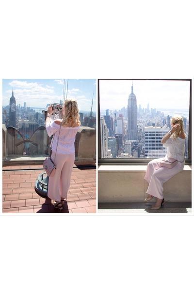 light pink H&M pants